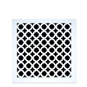 Venetian Vent Cover - White Collection - Aria Rectangular Vent Cover - Silver Mirror Collection