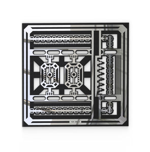 Ocean Avenue - Steampunk Wall Art & Decor - Aria Rectangular Vent Cover - Silver Mirror Collection