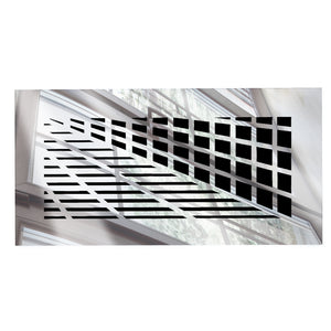 Vivian Rectangular Vent Cover - Silver Mirror Collection - Aria Rectangular Vent Cover - Silver Mirror Collection