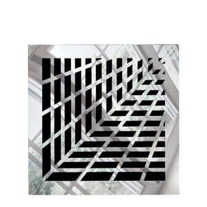 Vivian Square Vent Cover - Silver Mirror Collection - Aria Rectangular Vent Cover - Silver Mirror Collection