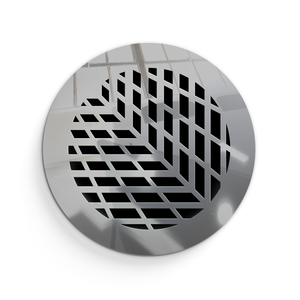 Vivian Vent Cover - Silver Mirror Collection - Aria Rectangular Vent Cover - Silver Mirror Collection