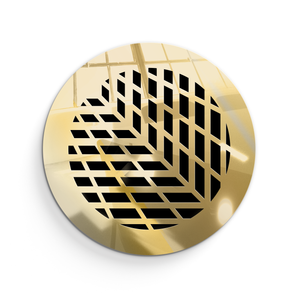 Vivian Round Vent Cover - Gold Mirror Collection