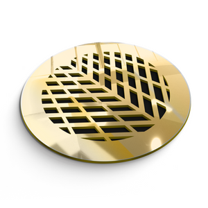 Vivian Round Vent Cover - Gold Mirror Collection - Aria Rectangular Vent Cover - Silver Mirror Collection