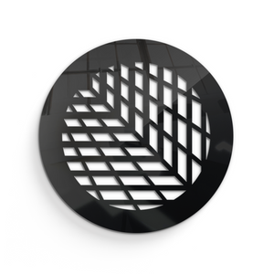 Vivian Round Vent Cover - Black Collection