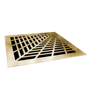 Vivian Vent Cover - Gold Mirror Collection - Aria Rectangular Vent Cover - Silver Mirror Collection