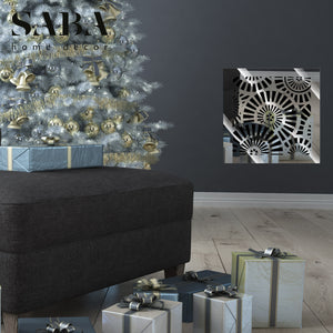Waterwheel Vent Cover - Silver Mirror Collection - Aria Rectangular Vent Cover - Silver Mirror Collection