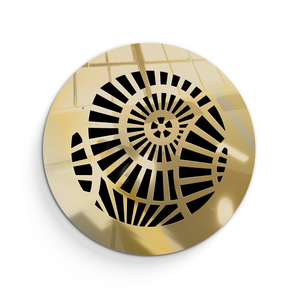 Waterwheel Round Vent Cover - Gold Mirror Collection