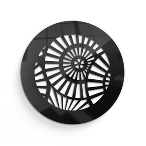 Waterwheel Round Vent Cover - Black Collection - Aria Rectangular Vent Cover - Silver Mirror Collection