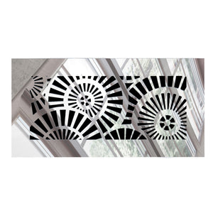Waterwheel Rectangular Vent Cover - Silver Mirror Collection - Aria Rectangular Vent Cover - Silver Mirror Collection