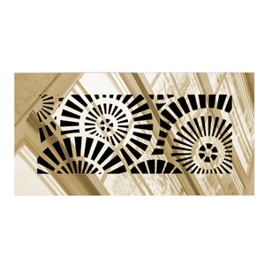 Waterwheel Rectangular Vent Cover - Gold Mirror Collection - Aria Rectangular Vent Cover - Silver Mirror Collection