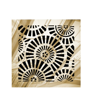 Waterwheel Vent Cover - Gold Mirror Collection - Aria Rectangular Vent Cover - Silver Mirror Collection