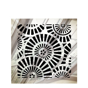 Waterwheel Vent Cover - Silver Mirror Collection