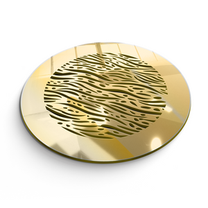 Waves Round Vent Cover - Gold Mirror Collection - Aria Rectangular Vent Cover - Silver Mirror Collection
