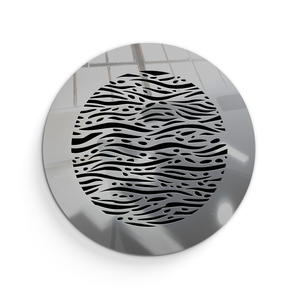 Waves Round Vent Cover - Silver Mirror Collection