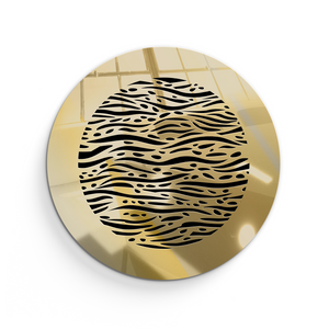Waves Round Vent Cover - Gold Mirror Collection