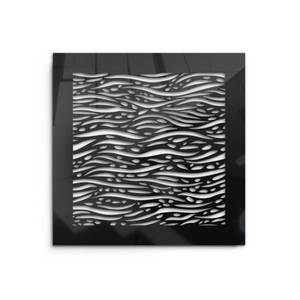 Waves Vent Cover - Black Collection