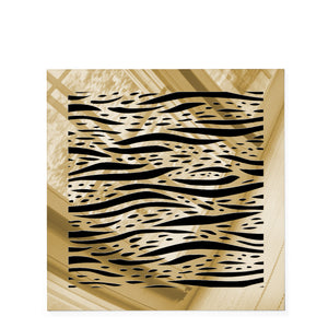 Waves Square Vent Cover - Gold Mirror Collection - Aria Rectangular Vent Cover - Silver Mirror Collection