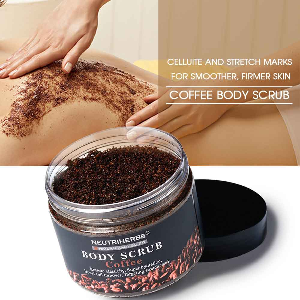 coffee body scrub-coffee scrub for cellulite-coffee sugar scrub-neutriherbs
