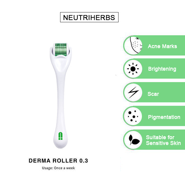 neutriherbs derma roller for acne and fine lines wrinkles