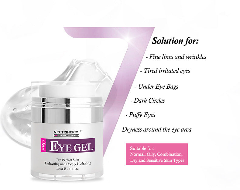 neutriherbs eye gel for wrinkles and dark circles