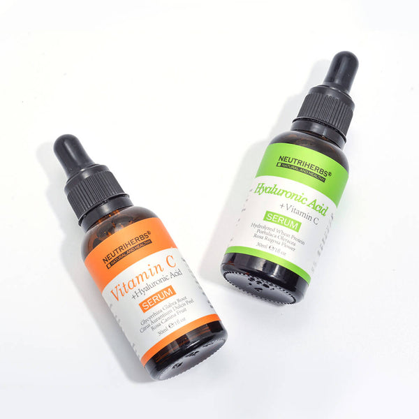 neutriherbs vitamin c serum and hyaluronic acid serum