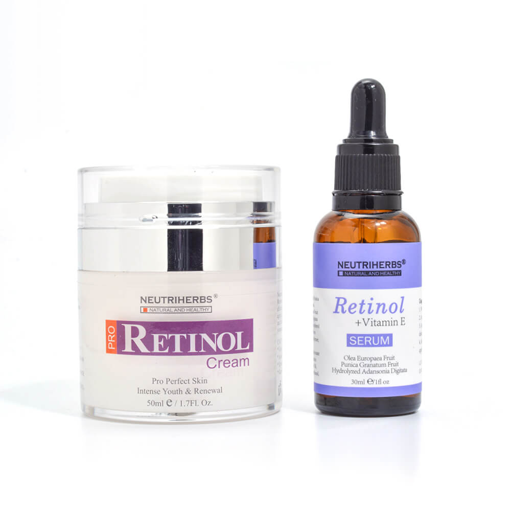 neutriherbs retinol cream and retinol serum