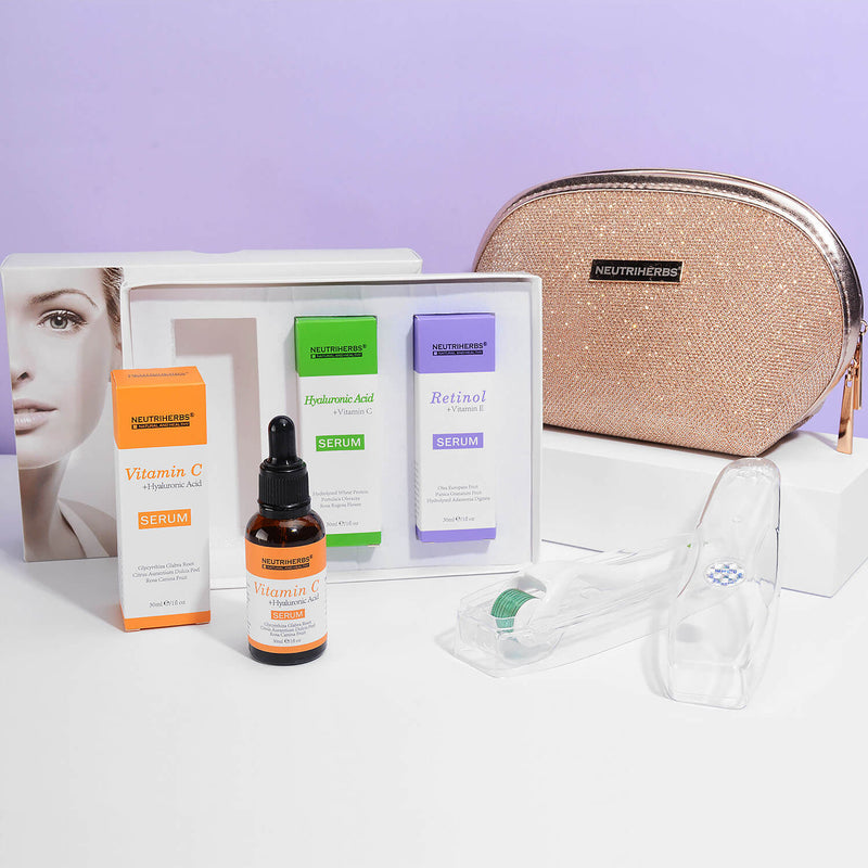 Neutriherbs® Vitamin Face Serum Gift Kit + Derma Roller