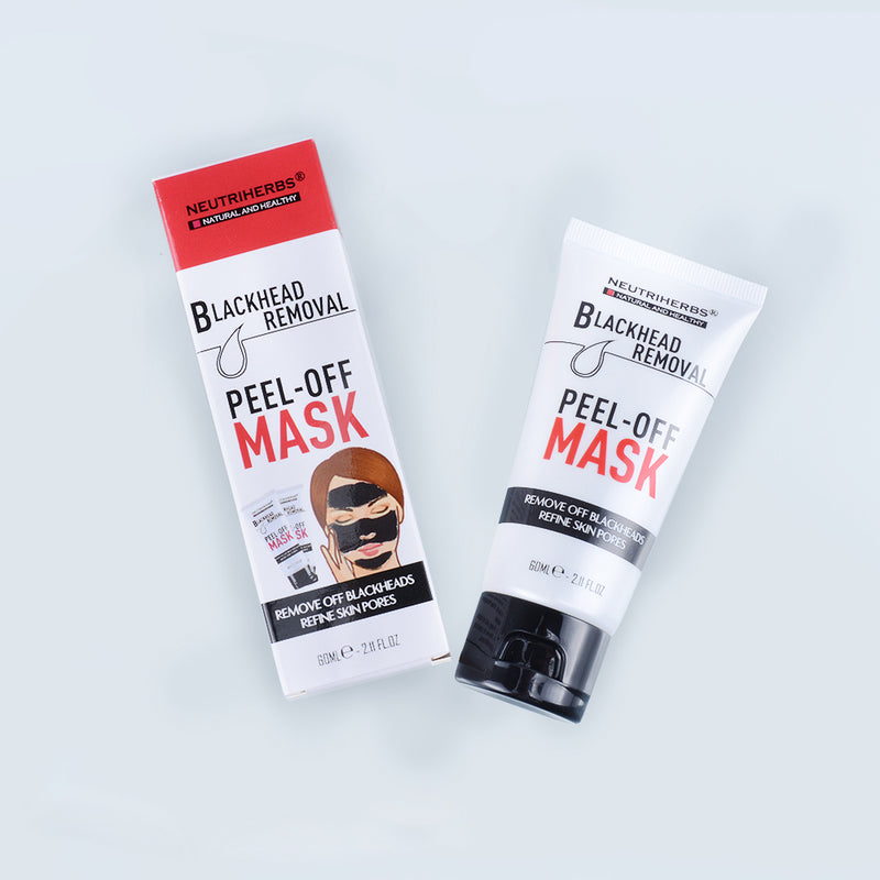 neutriherbs peel off mask - charcoal blackhead mask