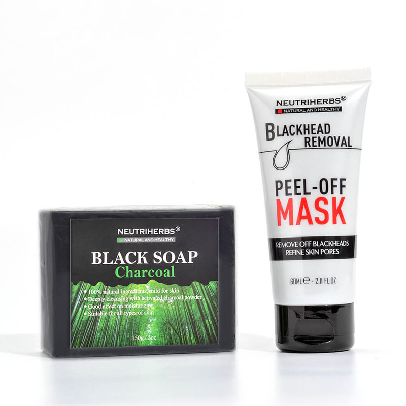 Neutriherbs Charcoal Peel Off Mask Black Soap For Oily Skin