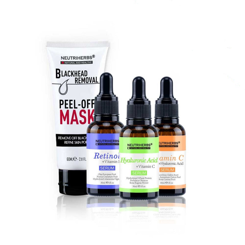 neutriherbs face serum kit blackhead peel off mask