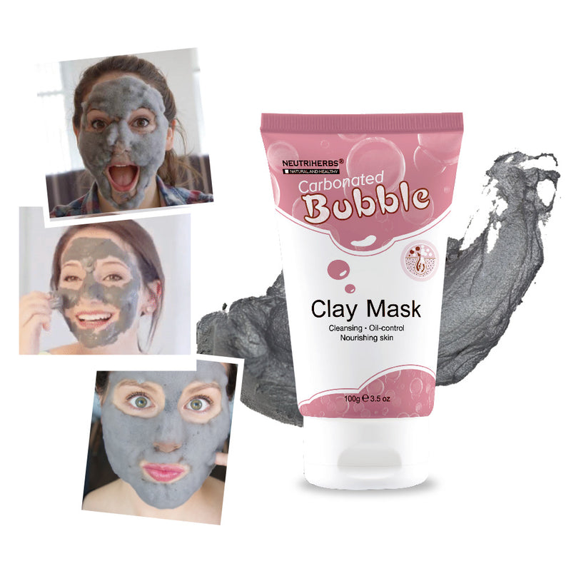 neutriherbs foaming clay mask-bubble mud mask-best bubble mask-carbonated clay face mask