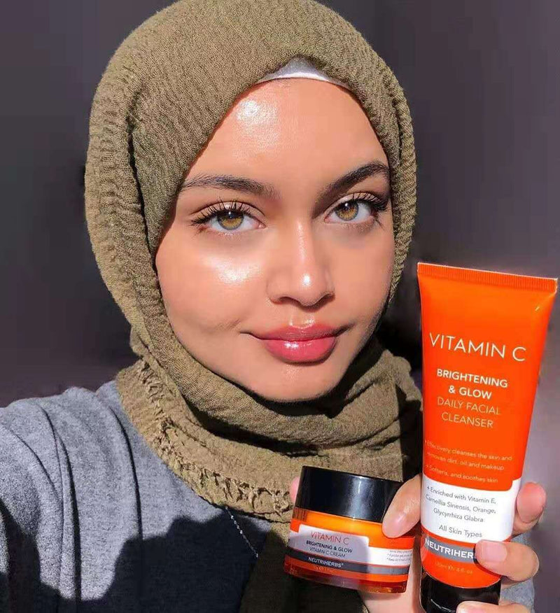 Neutriherbs vitamin c skincare routine for dull, tired & irritated skin-Instagram influencers recommend