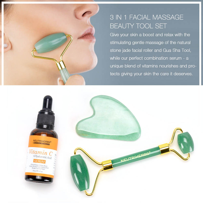 Neutriherbs Jade Facial Massager Beauty Set With Serum