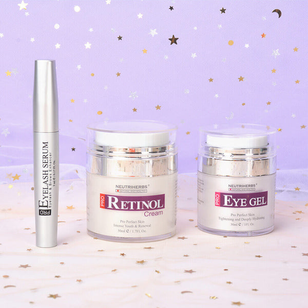 Neutriherbs PRO Series | Retinol Cream + Eye Gel + Eyelash Serum
