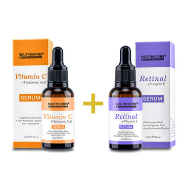 Neutriherbs® Vitamin C Serum+Retinol Serum | Save $15