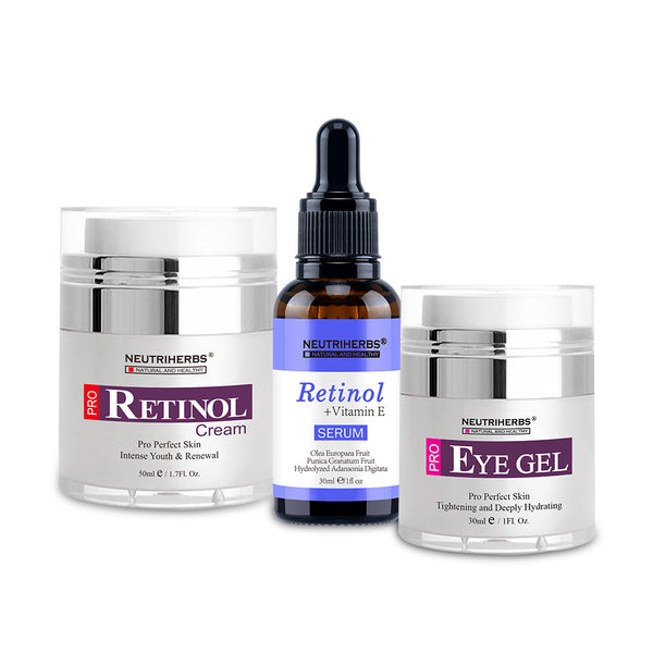 Neutriherbs | Retinol Serum + Retinol Cream + Eye Gel