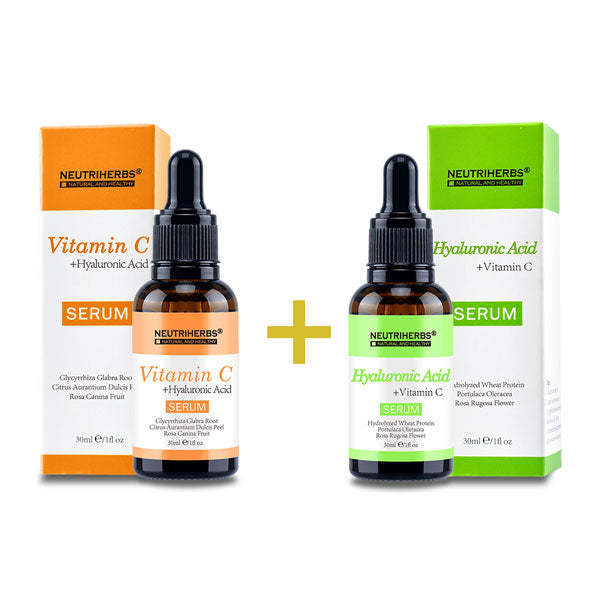 Neutriherbs Hyaluronic Acid Serum+Vitamin C Serum
