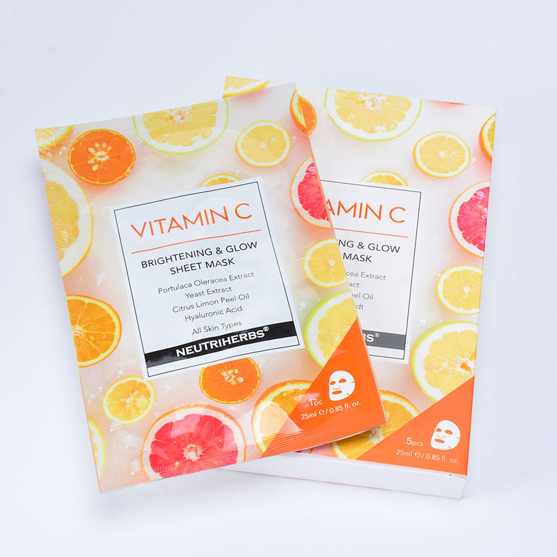 neutriherbs vitamin c face mask for dry skin