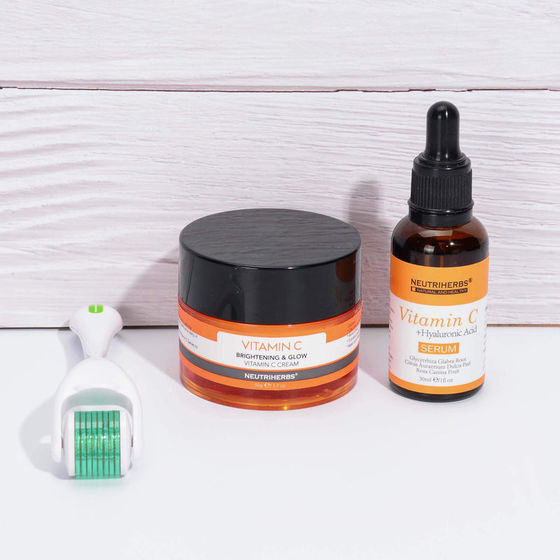 Vitamin C Serum + Cream + Derma Roller