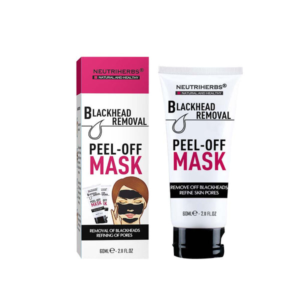 neutriherbs blackhead peel off-face mask to get rid of blackheads-black head pore mask-mask to get rid of blackheads-blackhead removal peel-blackhead remover cream