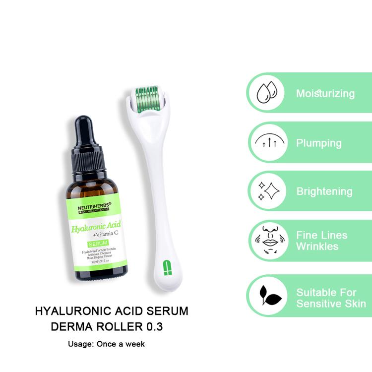 hydrating hyaluronic acid serum pure after derma roller