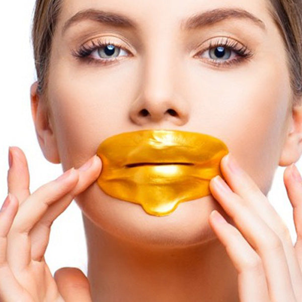lip care products-collagen lip mask-gold lips-best lip mask-lip plumping mask