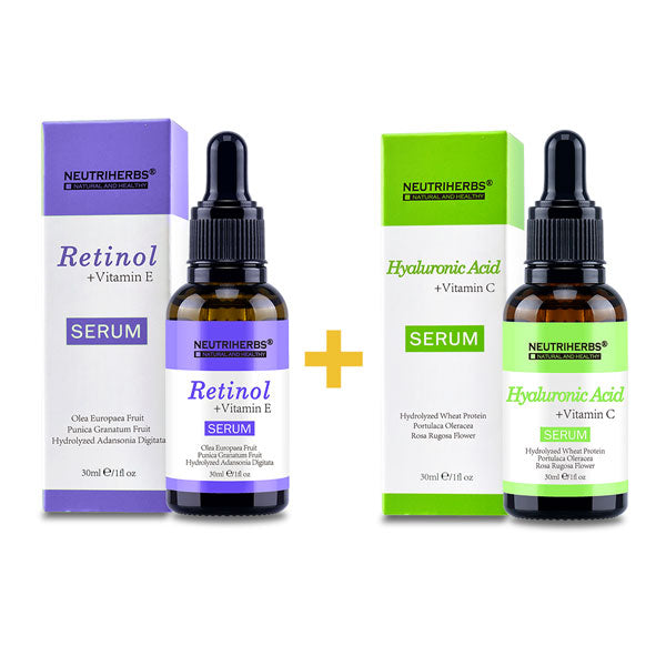 Neutriherbs Hyaluronic Acid Serum+Retinol Serum For Sensitive Skin