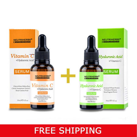 neutriherbs vitamin c serum neutriherbs hyaluronic acid serum