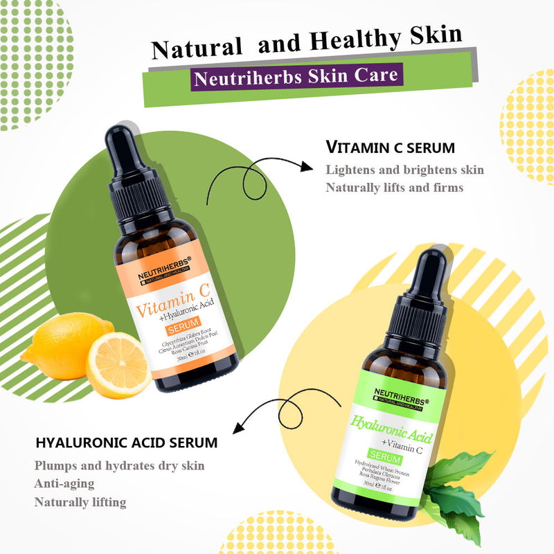 neutriherbs best vitamin c serum - neutriherbs hyaluronic acid serum - vitamin c skincare