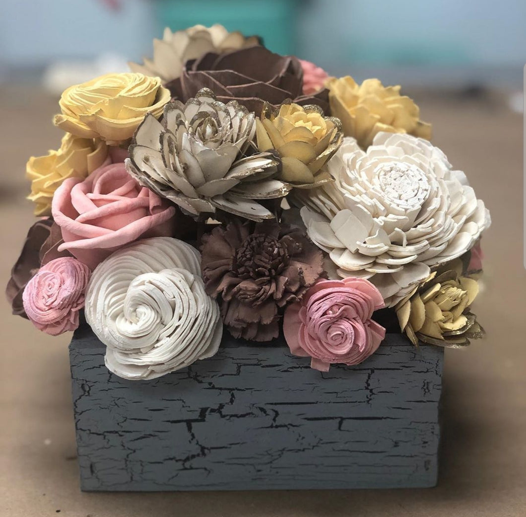 09/26/2019 630pm Wood Flower Arrangements and Truck Arrangements