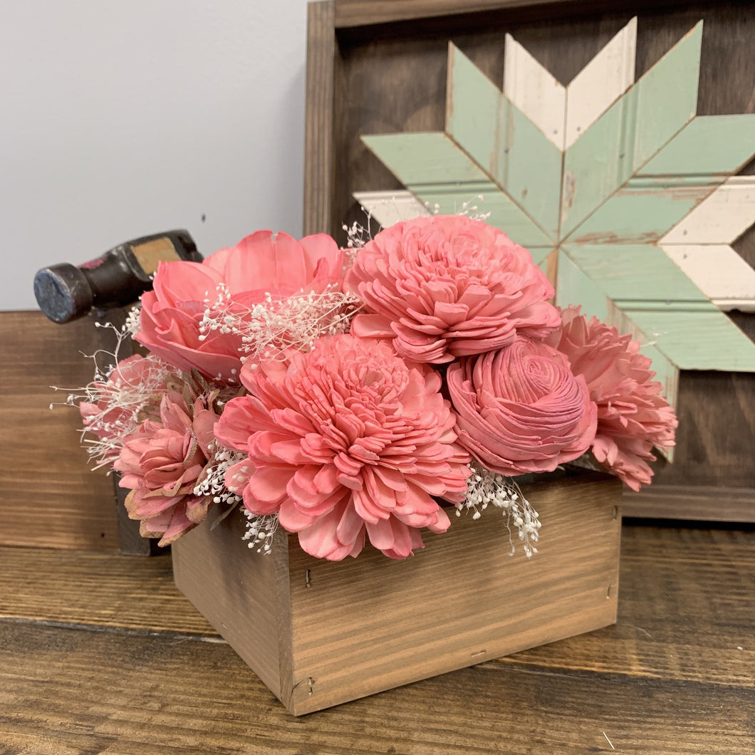 06/13/2019 7pm Wood Flower Arrangements