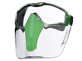 Univet 6X3 Safety Goggles & Detachable Face Mask