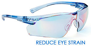 reduce eye strain blue safety spec
