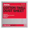 ProDec 12' x 9' Cotton Twill Dust Sheet